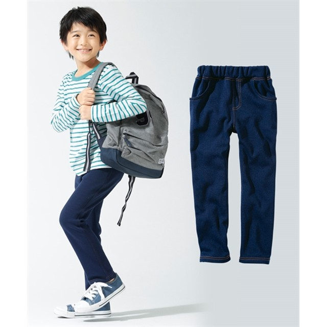 あったか裏シャギー ストレートパンツ(男の子。女の子 子供服。ジュニア服) パンツ