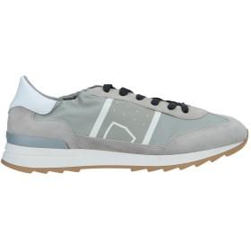 《期間限定 セール開催中》PHILIPPE MODEL メンズ スニーカー&テニスシューズ(ローカット) ライトグレー 39 革 / 紡績繊維