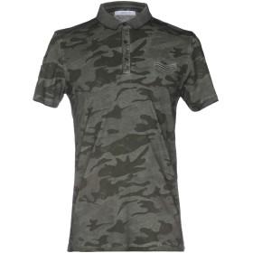《期間限定 セール開催中》HAMAKI-HO メンズ ポロシャツ ミリタリーグリーン S コットン 100%
