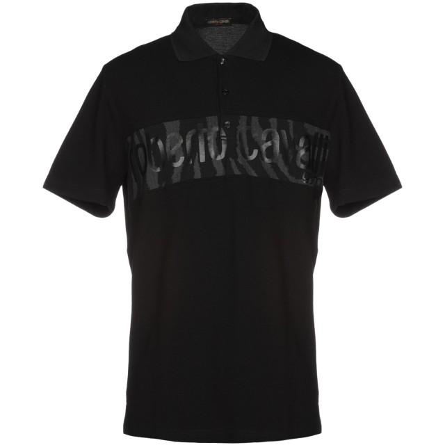 《9/20まで! 限定セール開催中》ROBERTO CAVALLI メンズ ポロシャツ ブラック S コットン 100%
