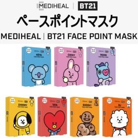 [MEDIHEAL] ★BTS フェイスポイントマスク★ メディヒール / マスクパック4シート+ポストカード /