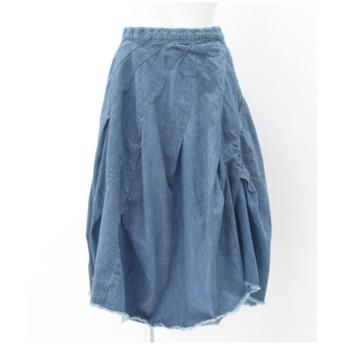【50%OFF】 アナップ デニムカットオフバルーンスカート レディース ブルー M 【ANAP】 【セール開催中】