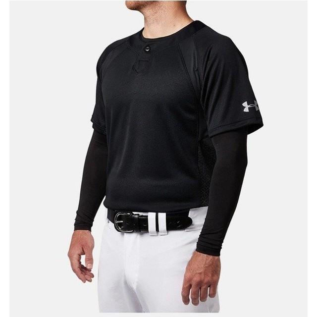 (セール)UNDER ARMOUR(アンダーアーマー)野球 半袖Tシャツ 18F UA STAND COLLAR BB SHIRT 1319743 001 メンズ BLK