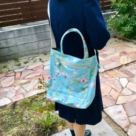 送料無料♪リバティ帆布の大きな2wayバッグ