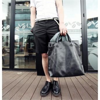 [55555SHOP]バイカラートートバック【トートバッグ メンズ バック 鞄 カバン 大容量 ビジネス 旅行 ブランド