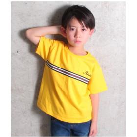 【50%OFF】 アナップキッズ ラインデザイン裏毛Tシャツ レディース イエロー 100 【ANAP KIDS】 【セール開催中】