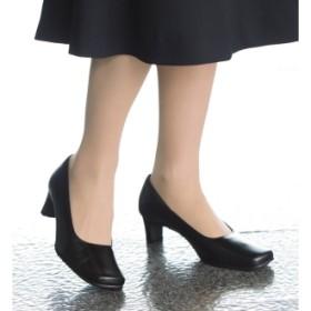 神戸の職人 時見さんの疲れにくいフォーマルパンプスブラック24.0