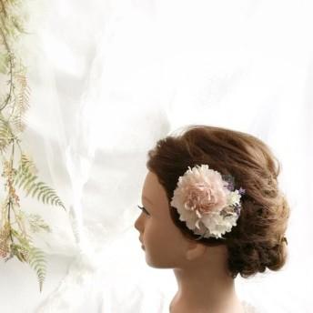 小さな花飾り コサージュにも.ピーチ