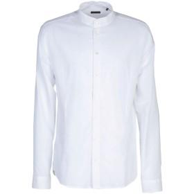 《期間限定セール開催中!》PATRIZIA PEPE メンズ シャツ ホワイト 50 コットン 100%