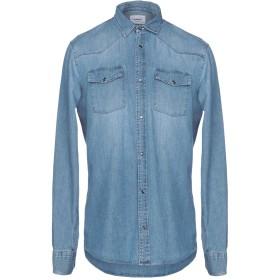 《期間限定 セール開催中》DONDUP メンズ デニムシャツ ブルー S コットン 100%