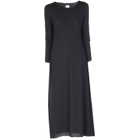 《セール開催中》,MERCI レディース 7分丈ワンピース・ドレス ブラック XS ポリエステル 96% / ポリウレタン 4%