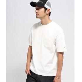 BASE STATION / ベースステーション 袖スター刺繍 ビックシルエットTシャツ