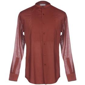 《期間限定セール開催中!》PAOLO PECORA メンズ シャツ 赤茶色 40 コットン 100%