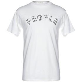 《期間限定 セール開催中》(+) PEOPLE メンズ T シャツ ホワイト XS コットン 100%