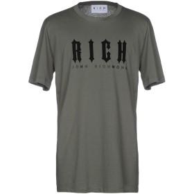 《セール開催中》JOHN RICHMOND メンズ T シャツ ミリタリーグリーン S コットン 100%