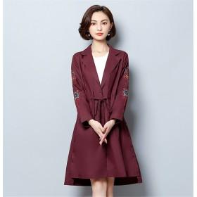 Fashions← 限定発売 レデイース ダスターコート ジャケット トレンチコート 気高い 刺繍