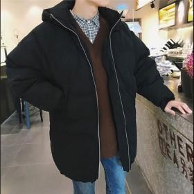 ダウンジャケット メンズ ロング丈 ダウンコート フード付きアウターコート ロングコート ファスナー ロングダウン 防寒軽量 高級感