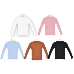 ニット・セーター - SLENDER 肌触りなめらか☆シンプルニット ニット レディース セーター リブ編み ラウンドネック 薄手 長袖 シンプル 新作 b710