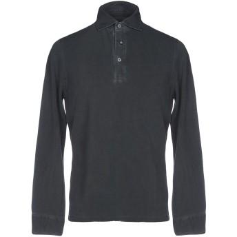 《期間限定セール開催中!》HERITAGE メンズ ポロシャツ 鉛色 46 コットン 100%