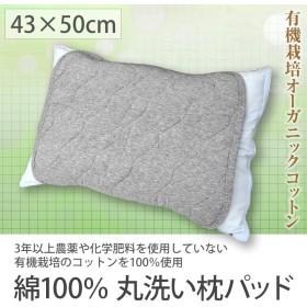 【ゆうパケット 送料無料】 綿100% 枕パッド ニットメッシュ オーガニックコットン使用 枕カバー