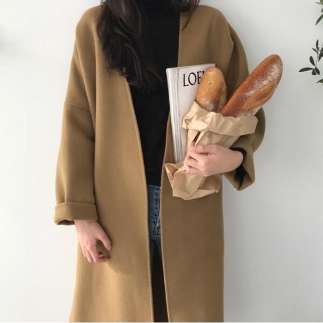 韓国ファッション レディース新作OL通勤/コート ジャケット 可愛い 長袖 ロング丈 スタジアムジャンパー ブルゾン ジャンパー アウター オーバー コート カジュアル