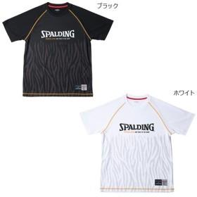 スポルディング メンズ Tシャツ TB ゼブラ ZEBRA バスケットボールウェア トップス 半袖 SMT181020