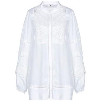 《期間限定セール開催中!》TWINSET レディース シャツ ホワイト S レーヨン 100% / ポリエステル