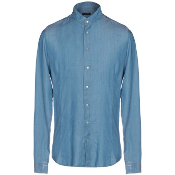 《期間限定セール開催中!》PATRIZIA PEPE メンズ デニムシャツ ブルー 46 テンセル 100%