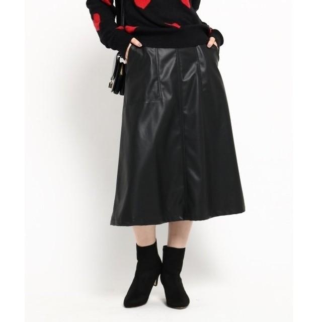 AG by aquagirl / エージー バイ アクアガール フェイクレザーAラインスカート