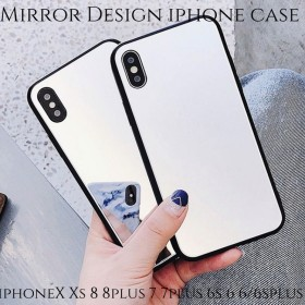 iphoneケース iphoneX Xs 8 8plus 7 7plus 6s 6 6splus 6plus スマホケース ソフト ミラー 鏡 大人可愛い かわいい 上品 レディース 女性 シンプル