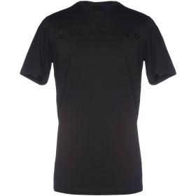 《セール開催中》JOHN RICHMOND メンズ T シャツ ブラック M コットン 100%