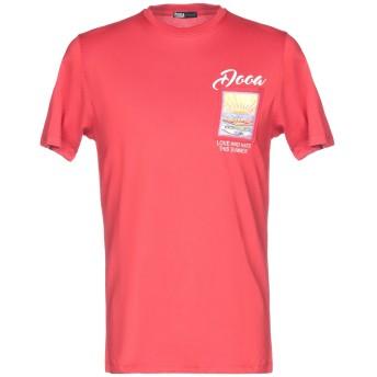 《セール開催中》DOOA メンズ T シャツ レッド M コットン 100%