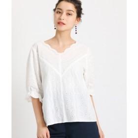 AG by aquagirl / エージー バイ アクアガール 【洗える】コットンエンブロ刺しゅうシャツ