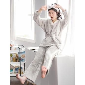 パジャマ ふわもこパジャマ 冬 着る毛布 ルームウェア 上下セット レディース 長袖 部屋着 女の子