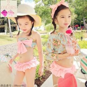 子供 水着 女の子 セパレート 水着 ベビー 水着 韓国風 旅行に最適 超可愛い 練習用水着 フリルレース