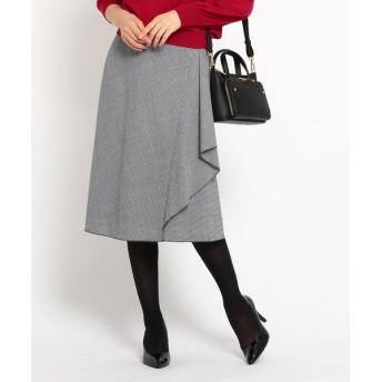 COUP DE CHANCE / クードシャンス グレンチェックストレッチAラインスカート