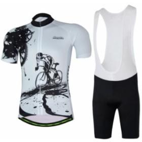 サイクルウェア 吸汗速乾自転車ウェア 上下セット 男女可 自転車服 半袖サイクルジャージセット 自転車用品 通気がいい 春夏秋 サイクル
