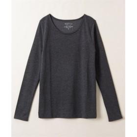 吸湿発熱。静電気防止加工付レーヨン混しなやか長袖Tシャツ (Tシャツ・カットソー)(レディース)T-shirts