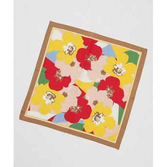 サンシュエットシルクツイル花柄スカーフ(2SC50004-07) ベージュ(83) 【三越・伊勢丹/公式】