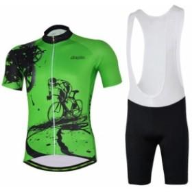 サイクルウェア 吸汗速乾自転車ウェア レディース女 通気がいい 自転車服 自転車用品 上下セット半袖サイクルジャージセット サイクルジ