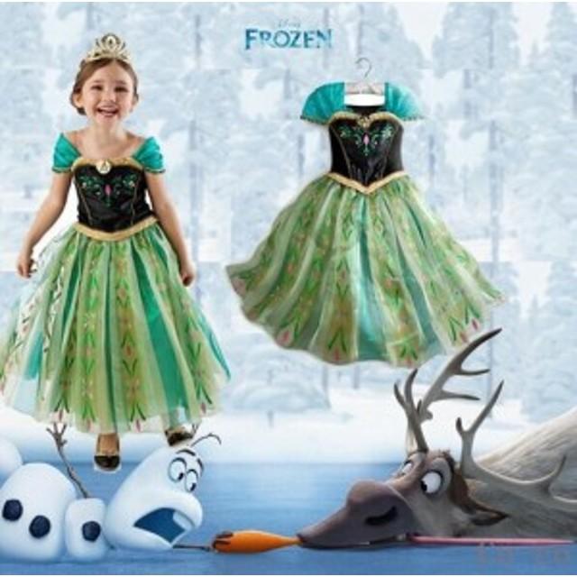 c8480838be0cf 子供 ディズニー プリンセス 仮装 アナと雪の女王 ポイント エルサ風 ドレス 韓国服 キッズ