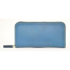 minca/Round zip wallet 01/BLUE