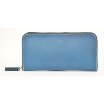 minca/Round zip wallet 01/BLUE