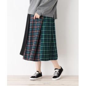 SHOO・LA・RUE/Cutie Blonde(シューラルー) バイカラーチェックフロントボタンスカート