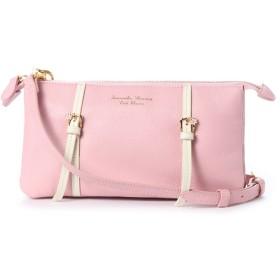 サマンサタバサプチチョイス ダブルベルトデザインシリーズ(ショルダーバッグ) ピンク