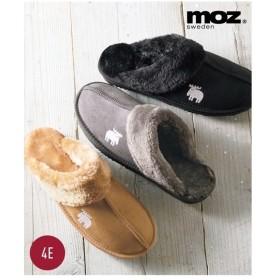 サンダル 大きいサイズ レディース MOZ モズ ムートン調 スリッパ ワイズ4E 靴 23.0〜23.5/24.0〜24.5cm ニッセン
