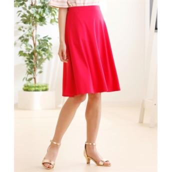 人気のためネット限定色追加!!カットソー無地フレアスカート(ひざ中丈) (大きいサイズレディース)スカート, plus size skirts, 裙子