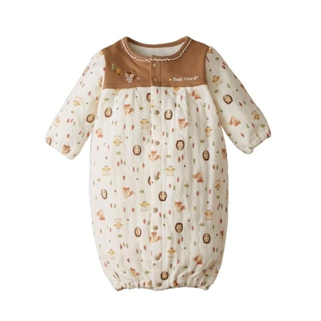 2e5069fa25c89 ソフトキルト長袖ツーウェイオール(男の子。女の子 子供服。ベビー服)  ベビー服