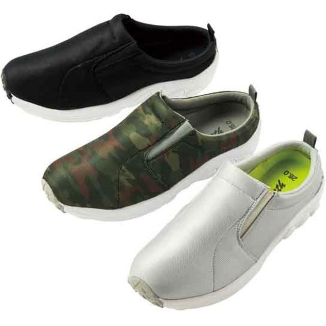 【格安-男性靴】メンズ軽量メッシュ素材かかと無しちょい履きスニーカー