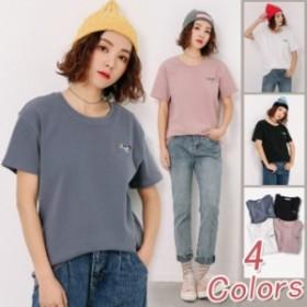 Tシャツ 半袖 無地 春夏 レディース やわらかい肌触り オリジナ S~XL大きいサイズ 定番